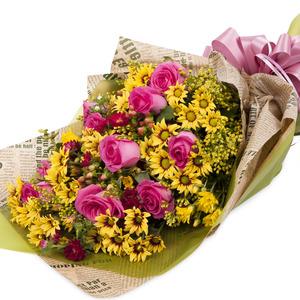 장미소국혼합꽃다발