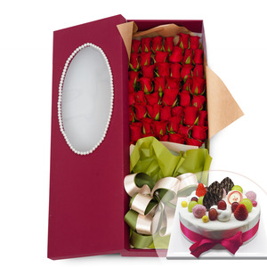 100송이꽃상자 + 케익