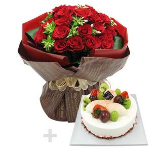 케익+꽃다발1호